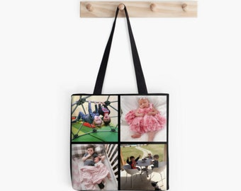 Sample personalized custom photo tote bag gift, personalized gift Mother's Day Father's Day grandparents gift birthday graduation holiday