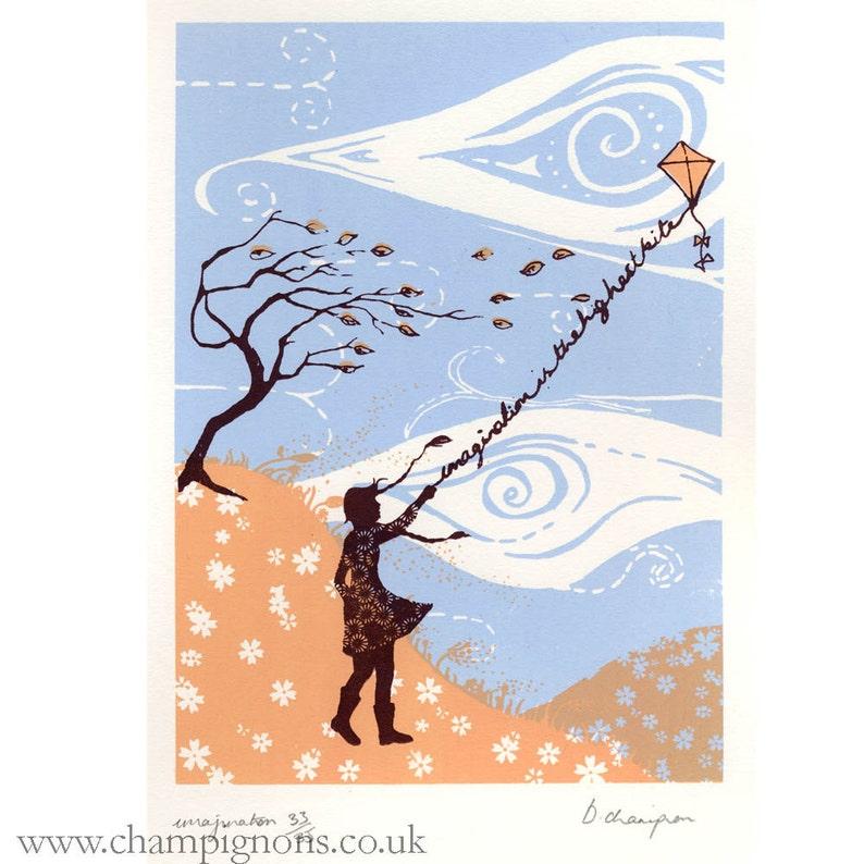 Imagination. Original silkscreen print. image 0