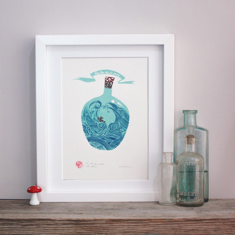 An ark to weather all storms. Open edition screenprint. image 0