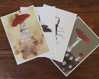 A5 natural history mini print entomology botanical archival print