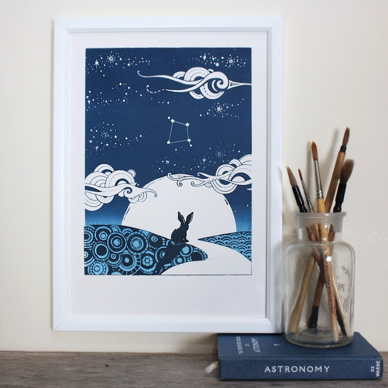 Big sky little A4 personalised screen print for abundance image 0