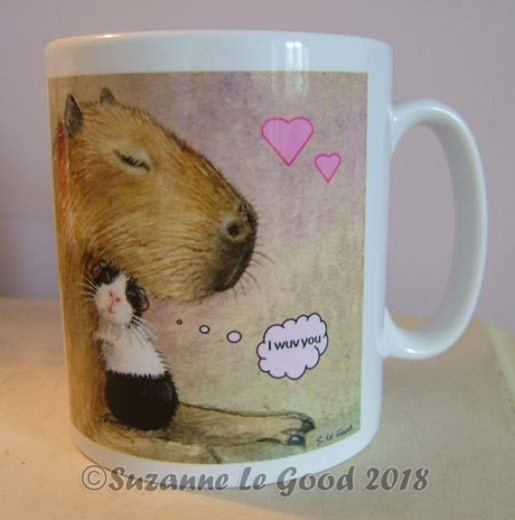 ACEO LTD ED FLORA DUTCH GUINEA PIG PAINTING PRINT FROM ORIGINAL SUZANNE LE GOOD
