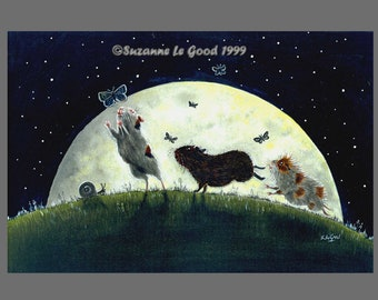 Guinea Pig Moon art print Limited Edition large print from painting by English artist Suzanne Le Good