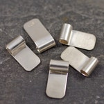 handmade sterling silver tube top bails - set of five