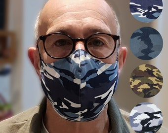 New camo patterns - the original cotton multilayer adjustable toggle mask  with filters