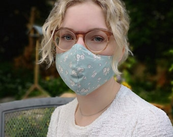 Liberty print adjustable cotton facemask- the original multilayer toggle mask  with filters