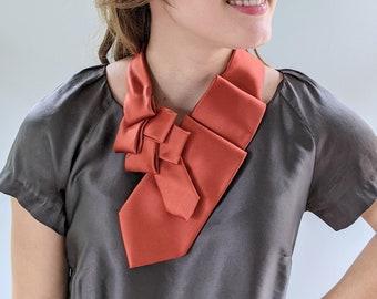 Women's Ascot - Neck Tie Scarf - Business Fashion - Sustainable Fashion