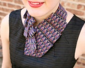 Neck Tie Scarf - Silk Scarf - Gift For Mom - Up-cycled Tie - Hipster Scarf - 27