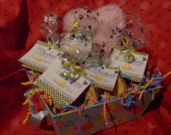 Basket of All Natural Home Baked Gourmet Treats and Toy