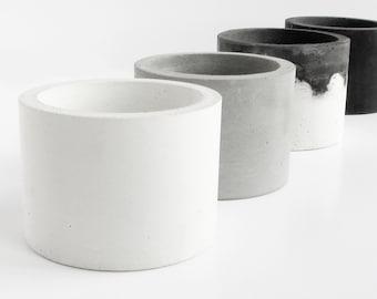 Concrete pot, Concrete bowl, Cement planter, Office storage pot, Seasoning cellar, Kitchen accessories, Home gift, Bathroom organizer