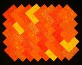 ORANGE 4 inch Squares 100 Cotton Prewashed Quilt Block Quilting Fabric ( A 5B)