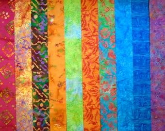 "BATIK Prints 5/"" Squares ~ 100/% Cotton Prewashed ~ Quilt Block Fabric #80B"