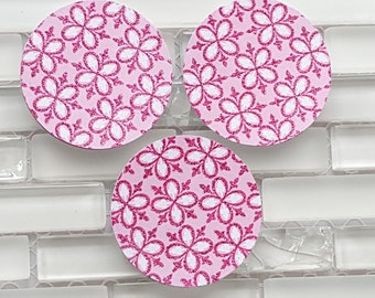 Pink flower stickers etsy pink and white glitter flowers 2 sticker set or envelope seals set of 20 stickers pink flower stickers ships in 1 2 business days mightylinksfo
