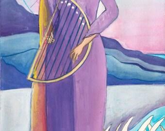 Canola, Celtic Goddesss of Inspiration - Small Print