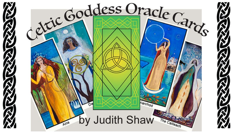 Celtic Goddess Oracle Deck with guidebook image 1