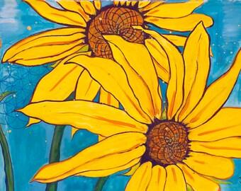 Sunflowers Dancing - Flower Art