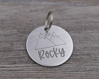 Personalized Pet Tag, Pet dog tag, Cat tag, dog ID Tag, pet dog ID tag, Handstamped dog ID Tag, Cat id tag, dog tag for dogs, Silver Dog Tag