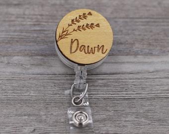Lavender Sprig, Name Badge Reel, Flower, Custom ID Badge, Retractable Badge Reel, Work Badge, Work ID, Personalized Badge, Co Worker Gift