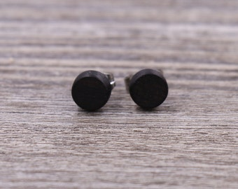 African Blackwood stud earrings, Wood earrings, Wood stud earrings, Womens earrings, Mens earrings, Custom Earrings, Tiny Earrings