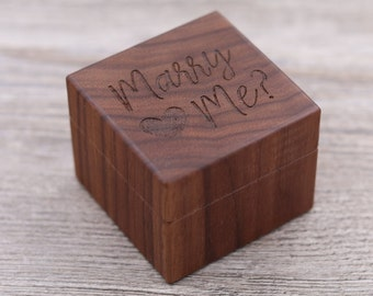Marry Me, Proposal Ring Box, Propose, Personalized Ring Box, Custom Wood Ring Box, Ring Bearer Box, Engagement, Engagement Rings,
