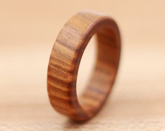 Lignum Vitae Ring - Custom Wood Ring - Unique Wedding Ring - Wedding Ring - Wooden Ring - Mens Jewelry - 5 Year Anniversary