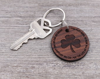 Irish Blessing, Irish Keychain, Luck of the Irish, Luck, Personalized Keychain, Custom Wood Keychain, Small Gift, Friend Gift
