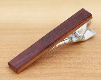 Wine Barrel Wood Tie Clip - Groomsmen gift - 5th Wedding Anniversary Present - Wine Barrel Wood Tie Bar - Tie Bar - Gift for Him