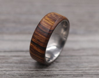 Desert Ironwood Ring,Wood Ring,Titanium Ring,Personalized Ring,Wooden Ring,Wedding Ring,Unique Ring,Mens Jewelry