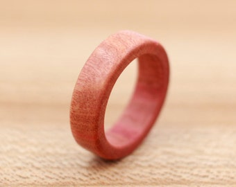 Pink Ivory Wood - Custom Wood Ring - Unique Wedding Ring - Natural Jewelry - Wedding Ring - Wooden Ring - 5 Year Anniversary