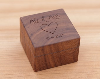 Personalized Ring Box - Custom Wood Ring Box - Ring Bearer Box - Engagement - Proposal Ring Box - Anniversary Gift - Wedding