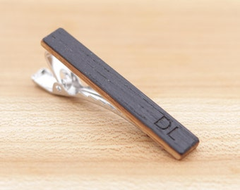 Kentucky Bourbon Whiskey Barrel Wood Tie Clip - Groomsmen gift - 5th Wedding Anniversary Present - 2 inch Long Tie Bar