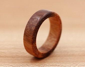 Brazilian Ebony Wood Ring - Custom Wood Ring - Unique Wedding Ring - Wedding Ring - Wooden Ring - Mens Jewelry - 5 Year Anniversary