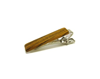 Wood Tie Clip - Bocote - Groomsmen gift - 5th wedding anniversary present