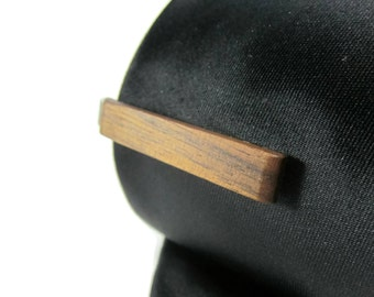 Wood Tie Clip - Walnut - Groomsmen gift - 5th wedding anniversary present