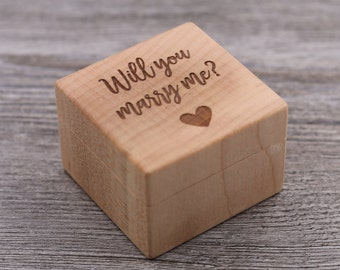 Will you marry me?, Marry Me, Proposal Ring Box, Personalized Ring Box, Custom Wood Ring Box, Ring Bearer Box, Engagement, Proposal