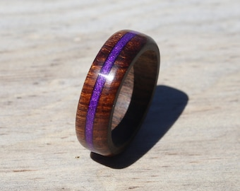 Desert Ironwood Wood Ring, Inlaid Ring, Custom Wood Ring, Wedding Ring, Wooden Ring, Mens Jewelry, 5 Year Anniversary, Unique Jewelry