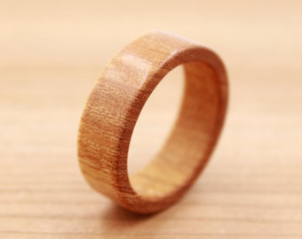 Chakte Viga Wood Ring - Custom Wood Ring - Unique Wedding Ring - Wedding Ring - Wooden Ring - Mens Jewelry - 5 Year Anniversary
