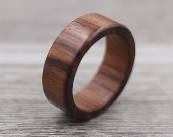 Macacauba Wood Ring - Custom Wood Ring - Personalized Ring - Engraved - Wedding Ring - Wooden Ring - Mens Jewelry - 5 Year Anniversary