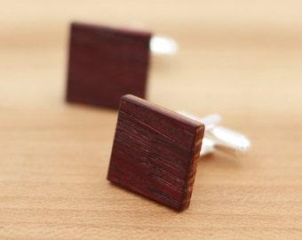 Wine Barrel Wood Cuff links - Groomsmen gift - 5th Wedding Anniversary Present - Personalized