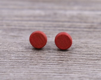 Pink Ivory wood earrings, Wood earrings, Wood stud earrings, Womens earrings, Mens earrings, Unisex Earrings, Custom Earrings, Tiny Earrings