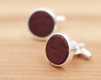 Wine Barrel Wood Cuff links - Cuff Links - Groomsmen gift - 5th Wedding Anniversary Present - Personalized - Gift for Him