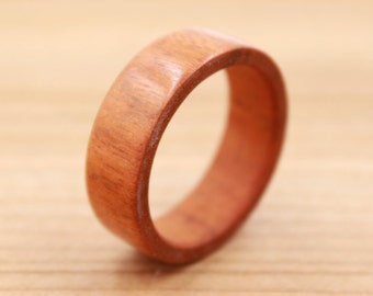 Osage Orange Wood Ring - Custom Wood Ring - Engraved - Unique Wedding Ring - Wedding Ring - Wooden Ring - Mens Jewelry - 5 Year Anniversary