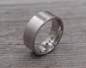 Titanium Ring,Titanium Band, Wedding Band,Personalized Ring,Engraved Ring,Custom Ring,Wedding Ring,Unique Ring,Lightweight Ring,Mens Jewelry