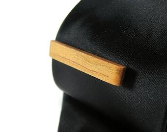 Wood Tie Clip - Cherry - Groomsmen gift - 5th wedding anniversary present