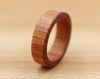 Brazilian Cherry Wood Ring  - Personalized Wood Ring - Unique Wedding Ring - Wedding Ring - Wooden Ring - Mens Jewelry - 5 Year Anniversary