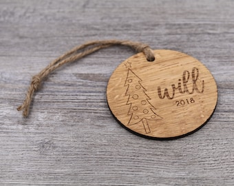 Name Ornament - Personalized Wood Christmas Ornament - Custom Ornament - Christmas Gift - Holiday Gift - Wood Ornament - Personalized Gift