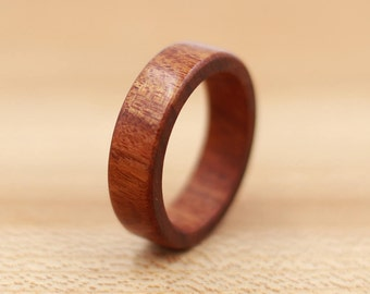 Mopani Wood Ring - Custom Wood Ring - Unique Wedding Ring - Wedding Ring - Wooden Ring - Mens Jewelry - 5 Year Anniversary