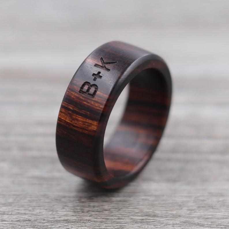 Desert Ironwood Wood Ring  Custom Wood Ring  Personalized image 0