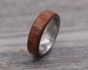 Mopani Wood Ring,Wood Ring,Titanium Ring,Personalized Ring,Wooden Ring,Wedding Ring,Unique Ring,Mens Jewelry