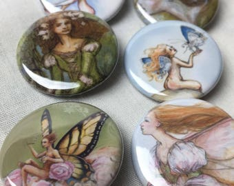 Set of 6 (sprite and pixie) pins